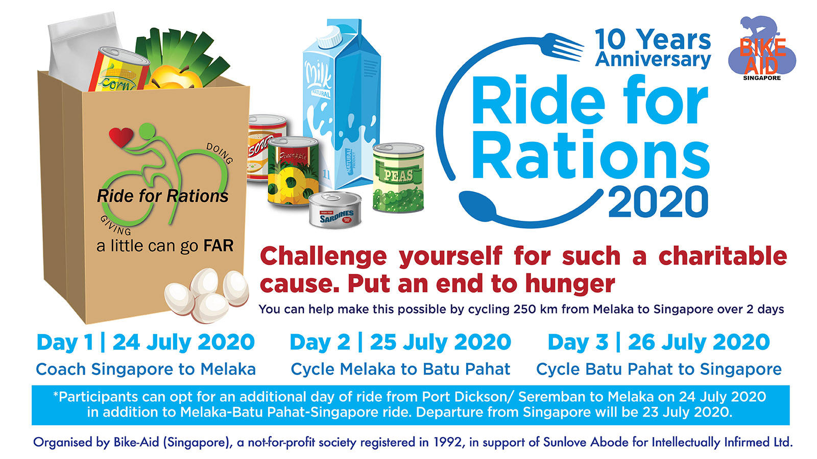Ride for Rations 2020 Banner